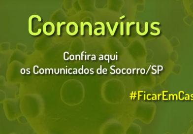 Comunicados e Decretos – Coronavirus em Socorro/SP