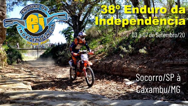 Início do Enduro da Independência 2020 será em Socorro/SP